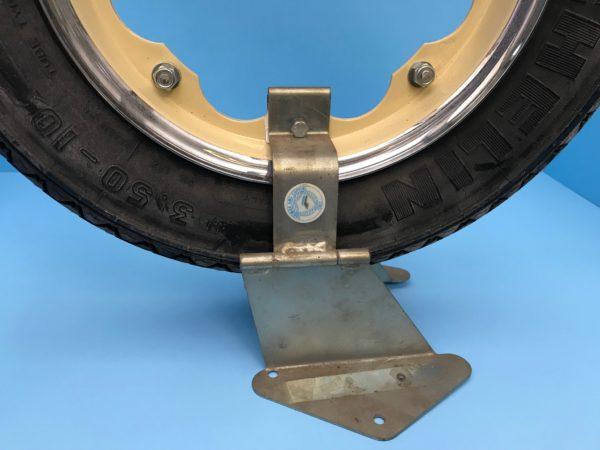 Original Cuppini in-line spare tire holder ~ Lambretta Series 3