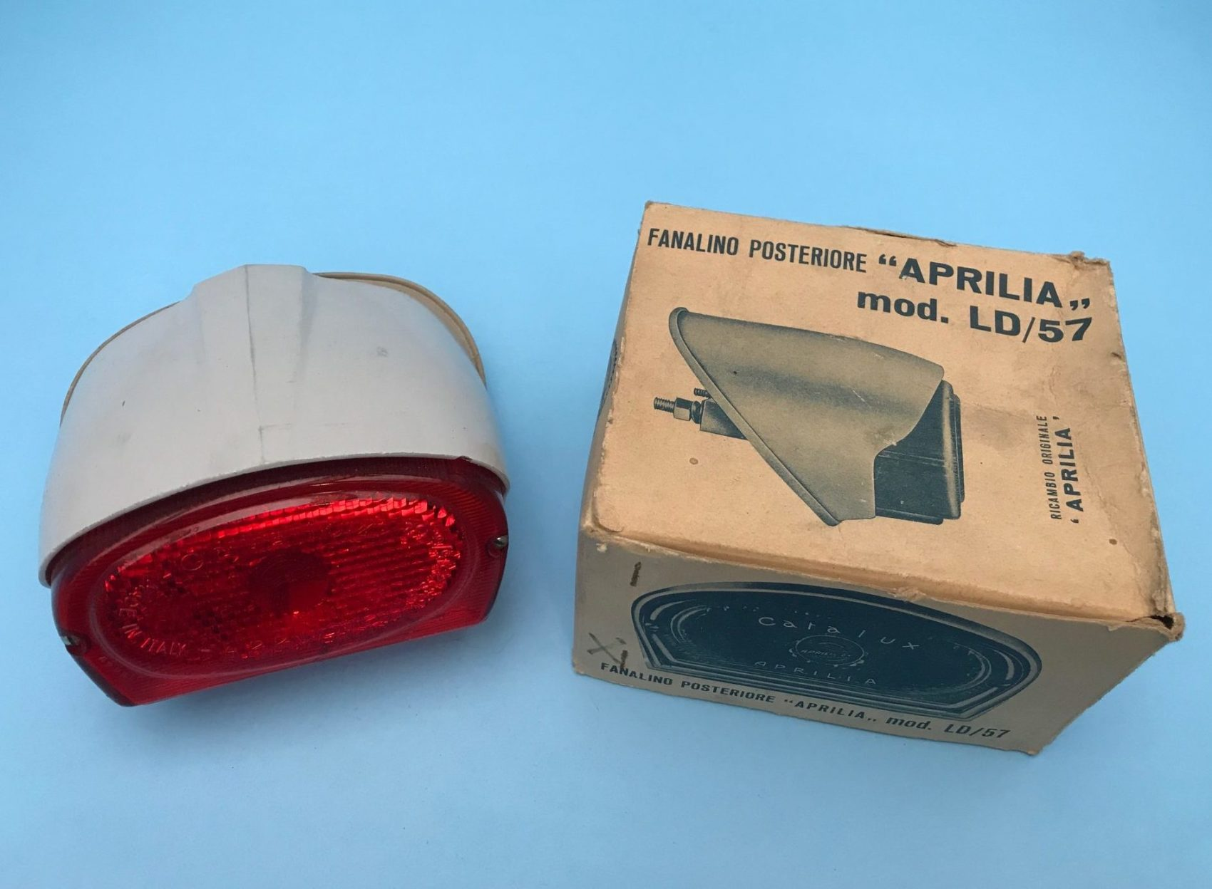 Aprilia taillight With Crest ~ NOS ~ LD ~ Last One in Original Box